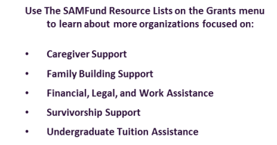 The SAMFund Resources for Young Adult Survivors